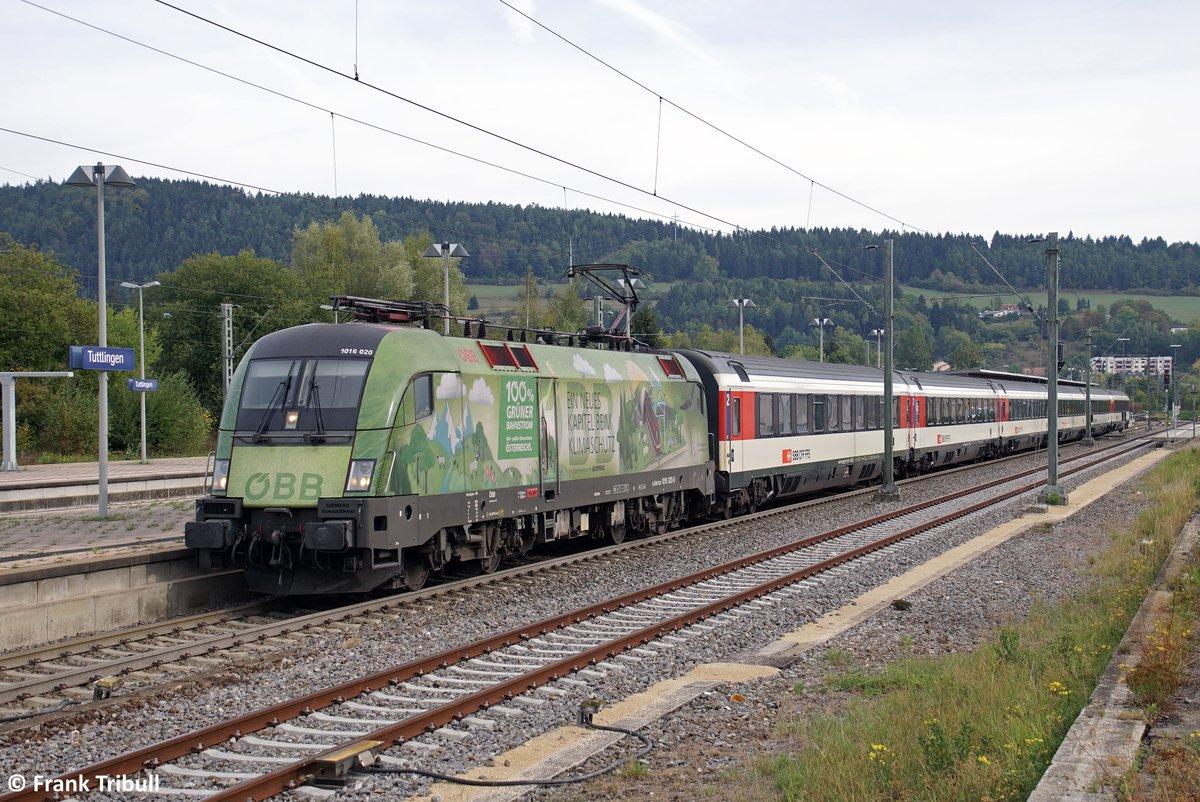 1016 020-0 aufgenommen am 22.09.2018 im Tuttlinger Bahnhof