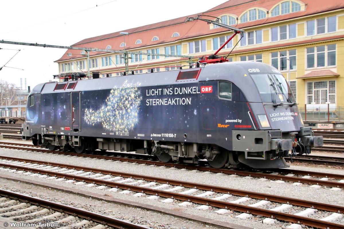 1116 158-7 aufgenommen am 11.03.2018 im Bahnhof Singen (Hohentwiel)