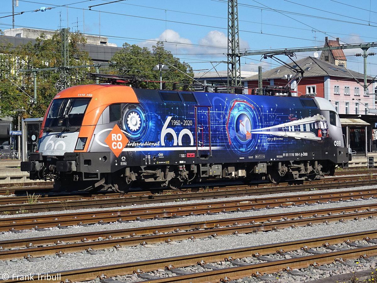 1116 199-1 aufgenommen am 28.09.2020 am Bahnhof Singen