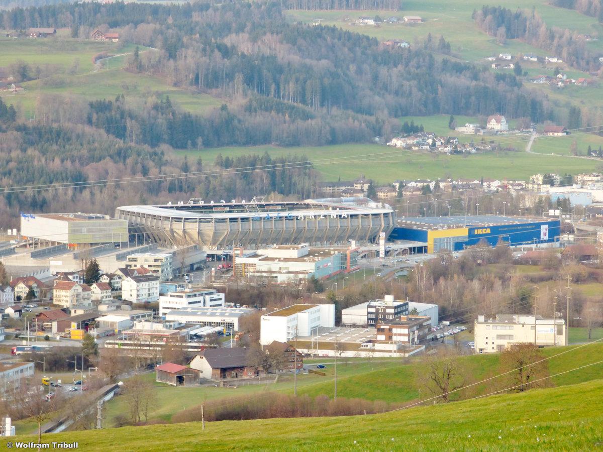 AFG-ARENA St. Gallen aufgenommen am 22.Dezember 2015