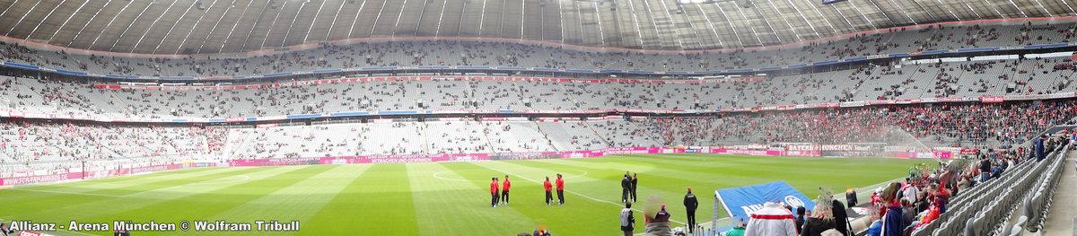 Allianz-Arena München aufgenommen am 02. April 2016