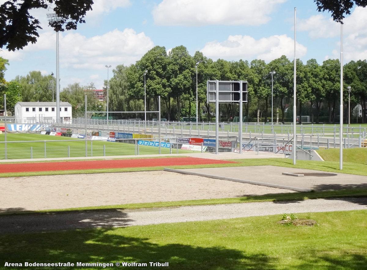 Arena Bodenseestraße Memmingen aufgenommen am 10. Juni 2017