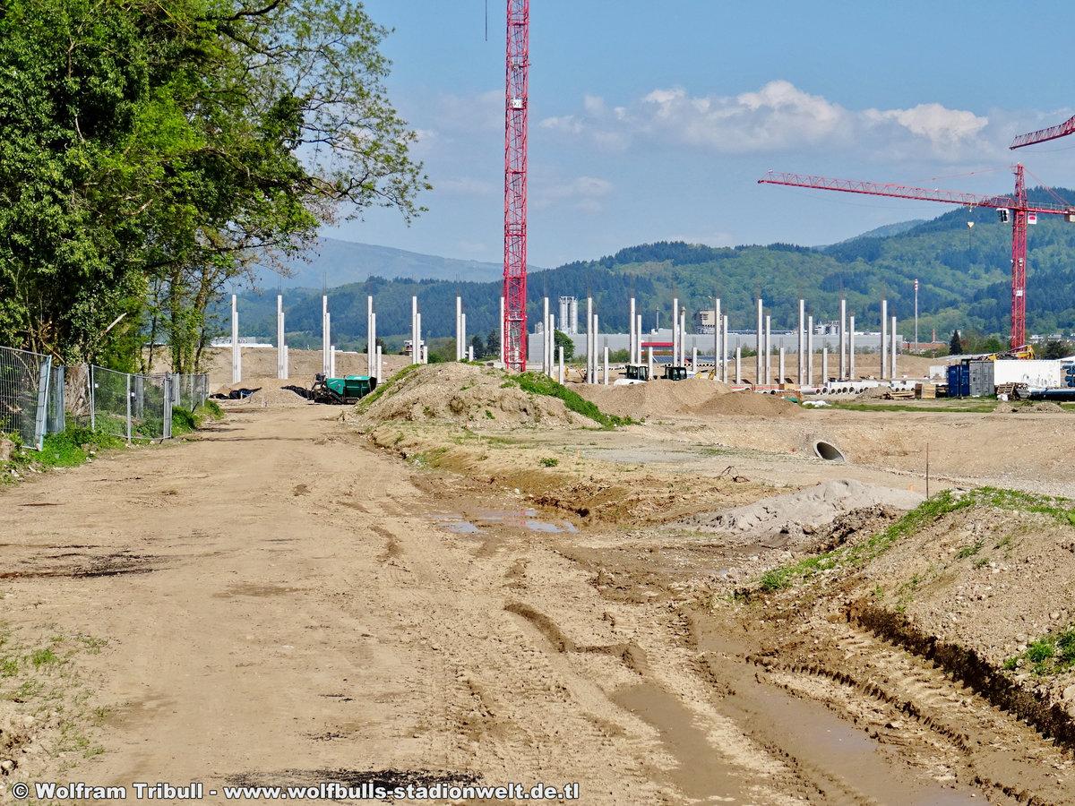 Baustelle Stadionneubau SC Freiburg aufgenommen am 01. Mai 2019