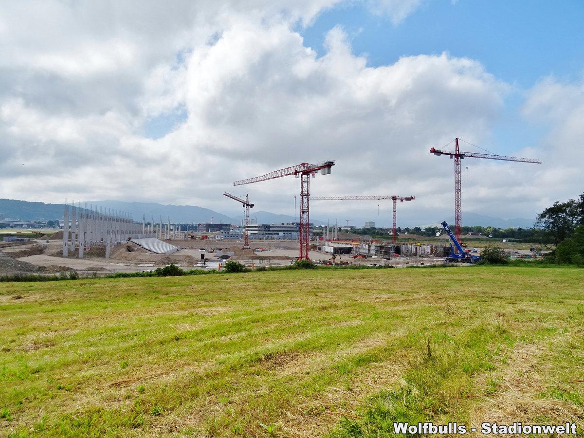 Baustelle Stadionneubau SC Freiburg aufgenommen am 23. Juni 2019