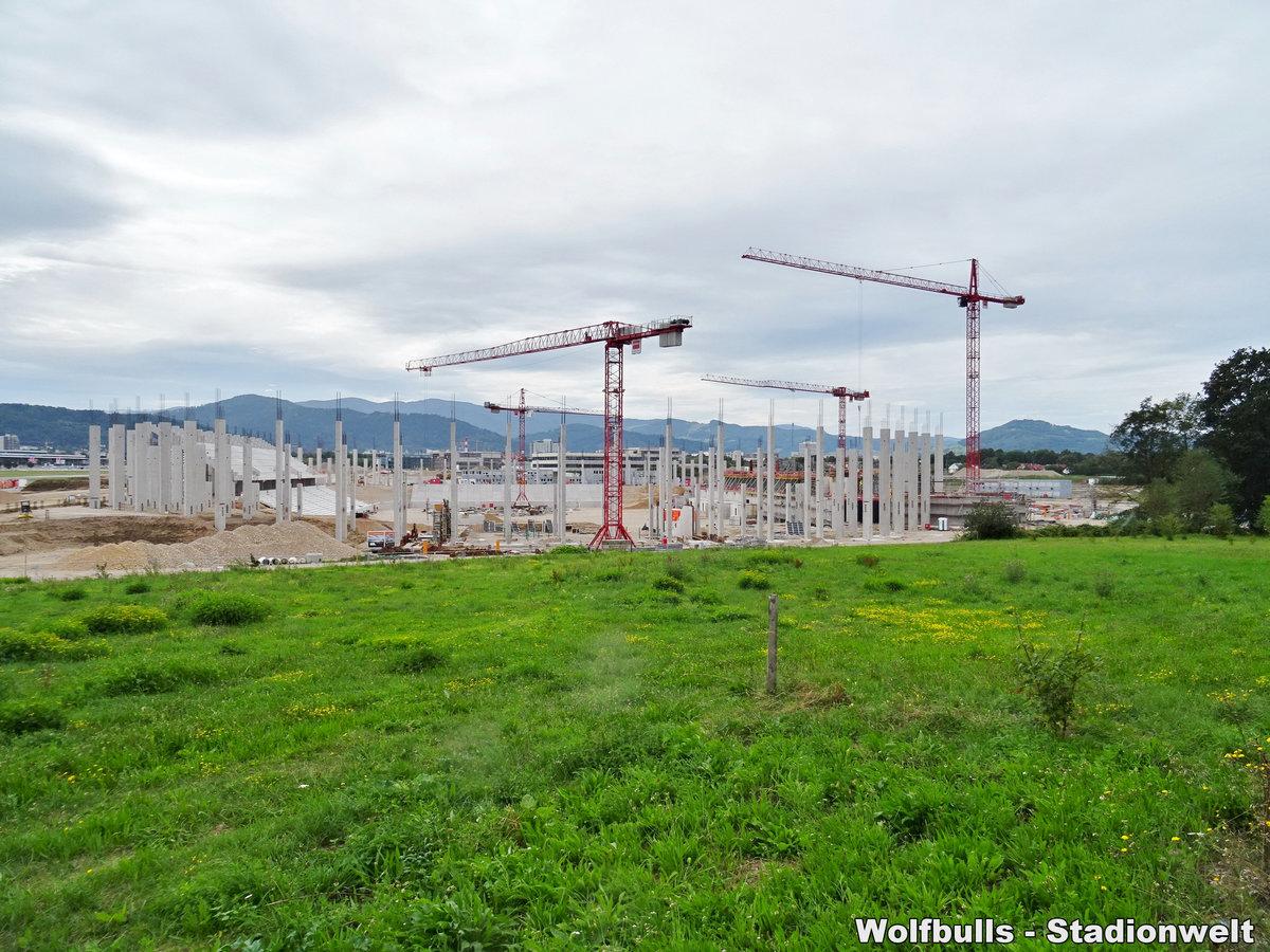 Baustelle Stadionneubau SC Freiburg aufgenommen am 17. August 2019