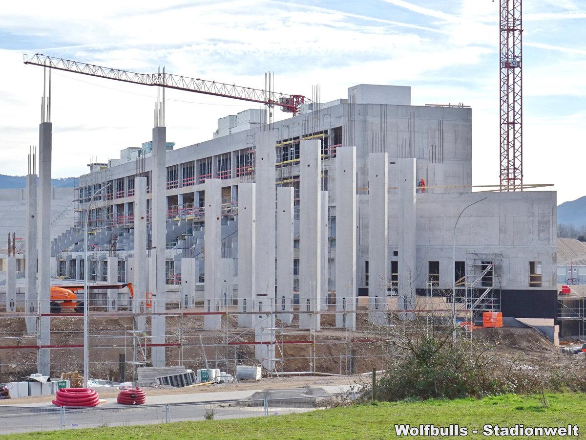 Baustelle Stadionneubau SC Freiburg aufgenommen am 16. Februar 2020