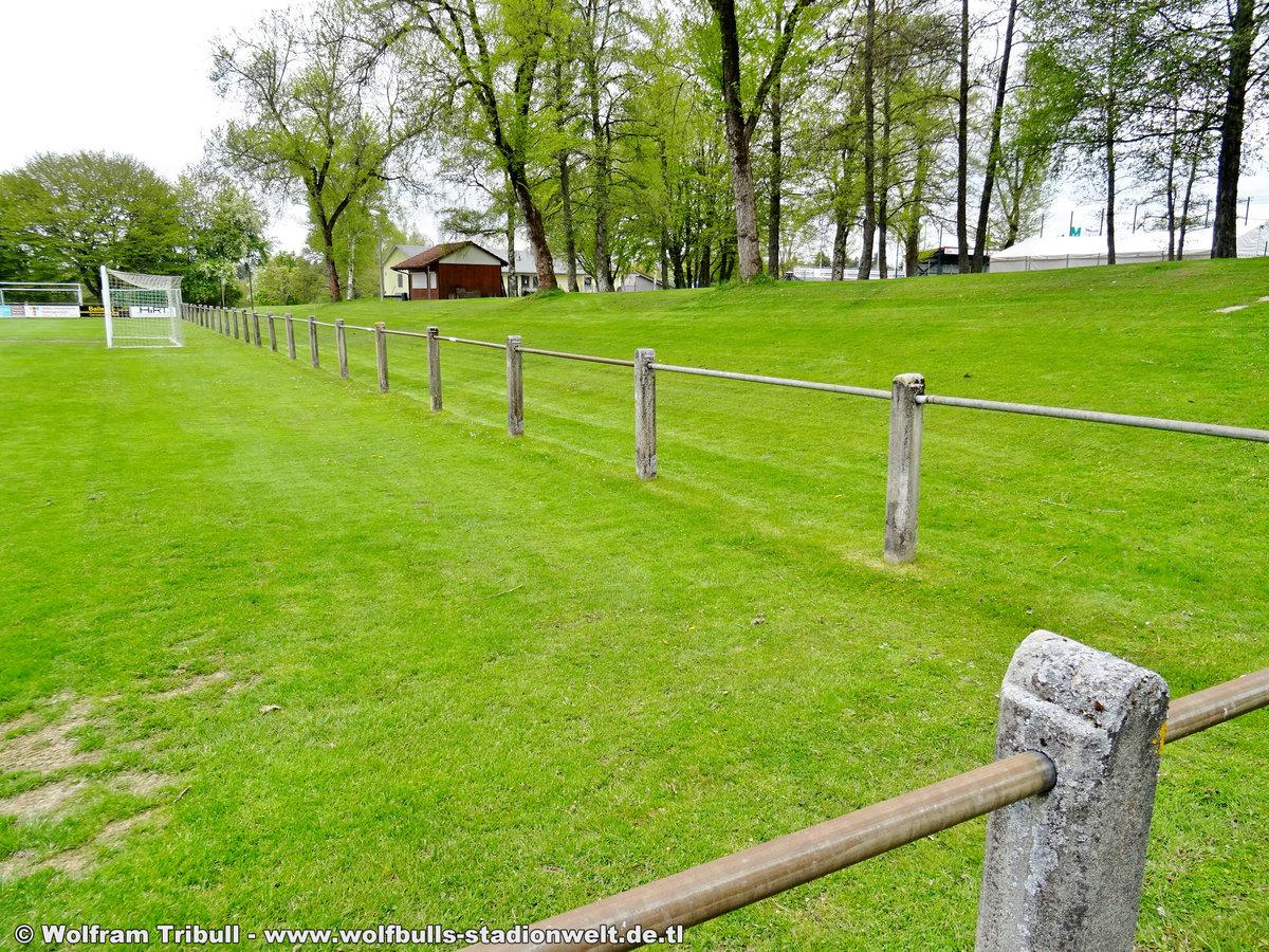 DJK-Stadion im Friedengrund Villingen aufgenommen am 16. Mai 2019