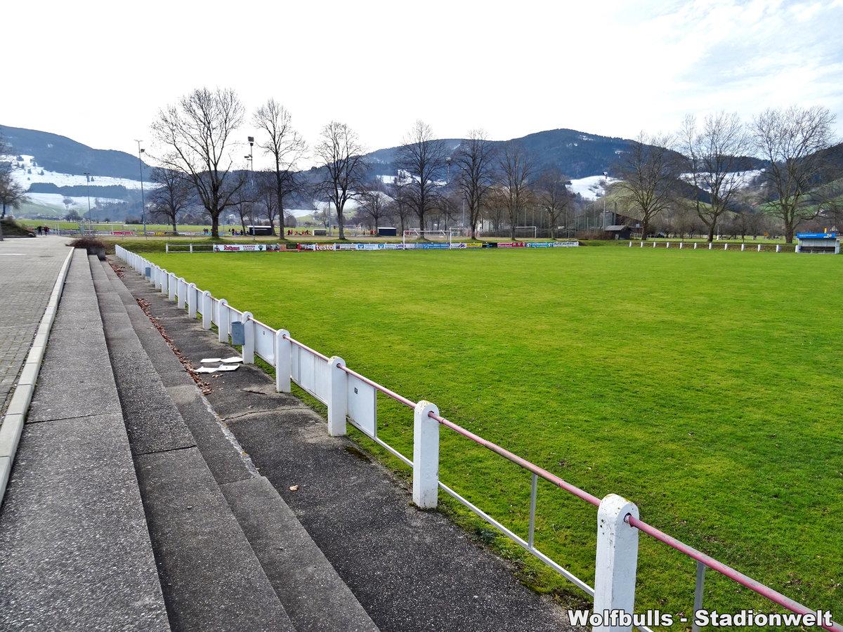 Dreisamtalstadion Kirchzarten aufgenommen am 08. Februar 2020