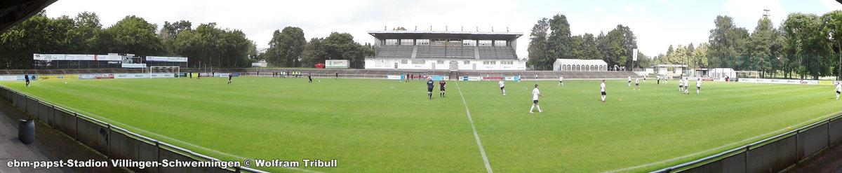 ebm-papst-Stadion Villingen-Schwenningen aufgenommen am 21.August 2016