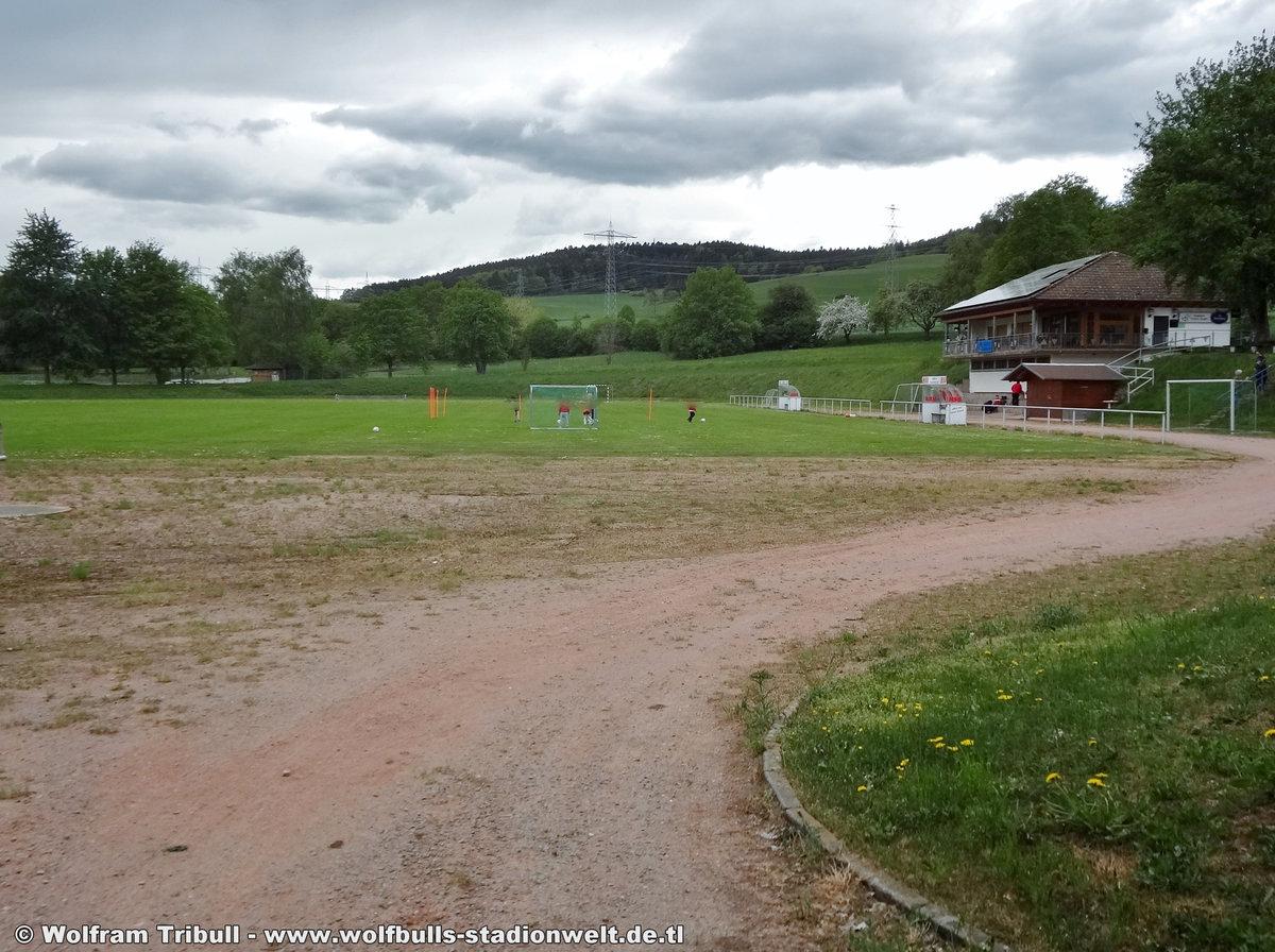 Espel-Stadion Tengen aufgenommen am 30. April 2018