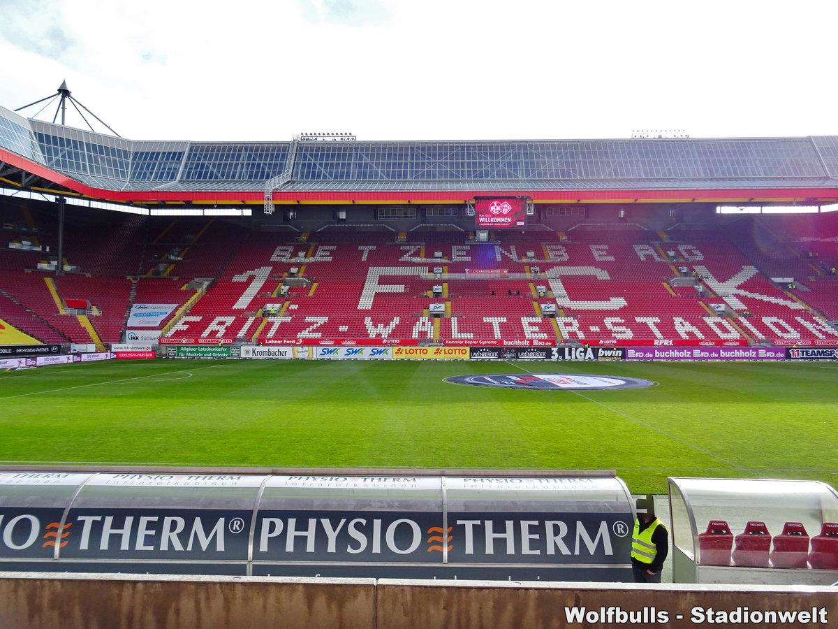 Fritz-Walter Stadion Kaiserslautern aufgenommen am 02. November 2019