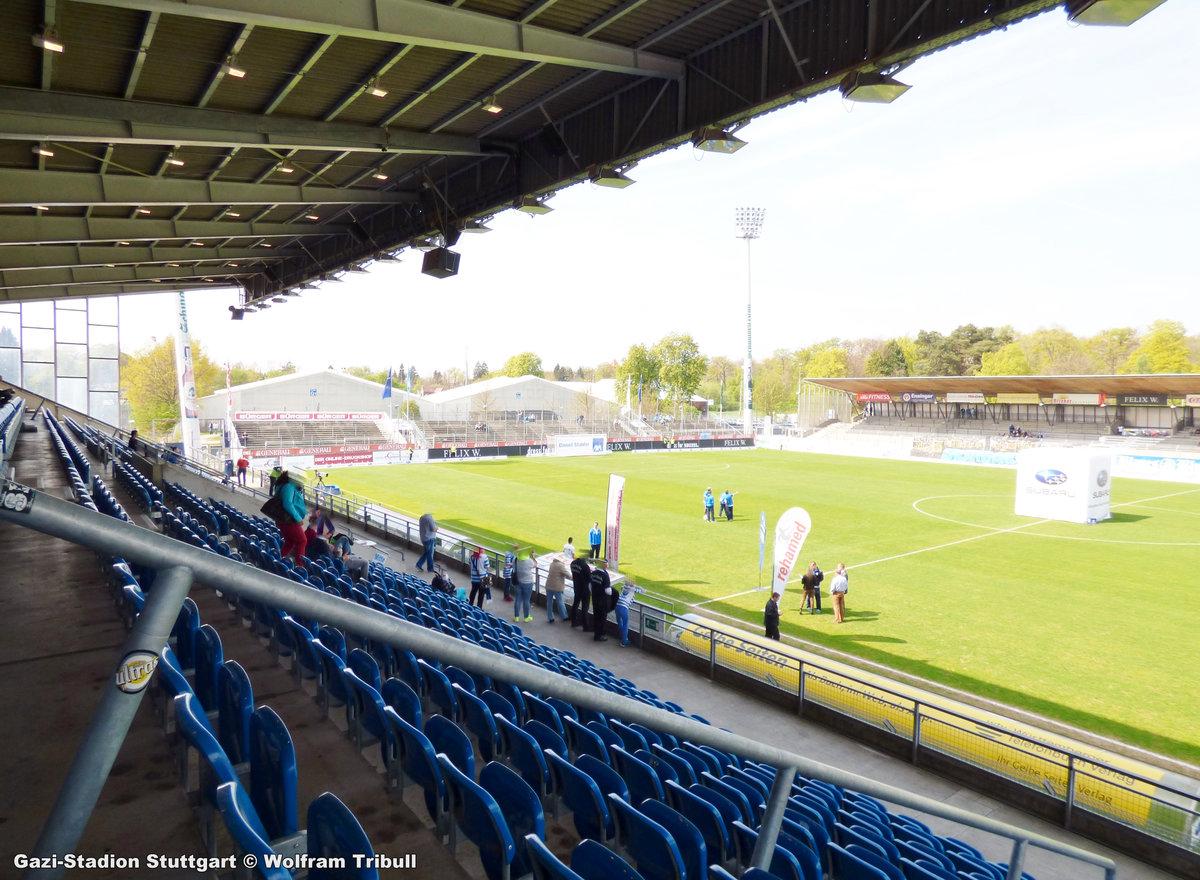 GAZI-Stadion Stuutgart aufgenommen am 12. April 2014