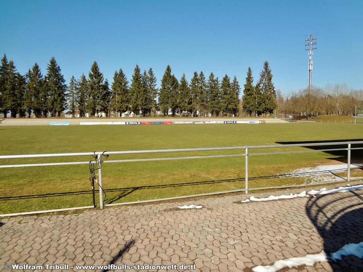 Gustav-Strohm-Stadion Schwenningen aufgenommen am 24. März 2018