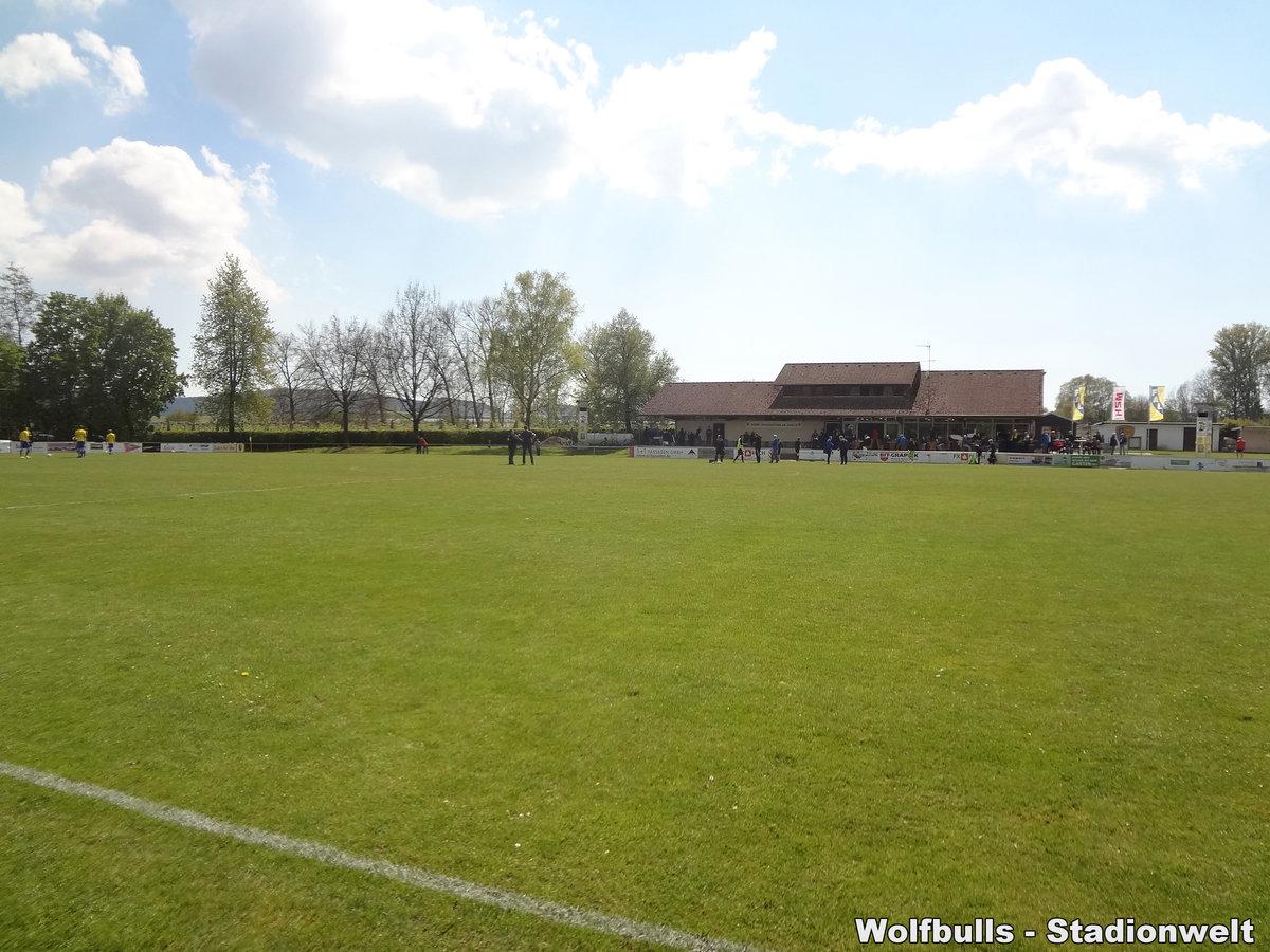 HSM-Sportzentrum am Aubach Frickingen aufgenommen am 29. April 2017