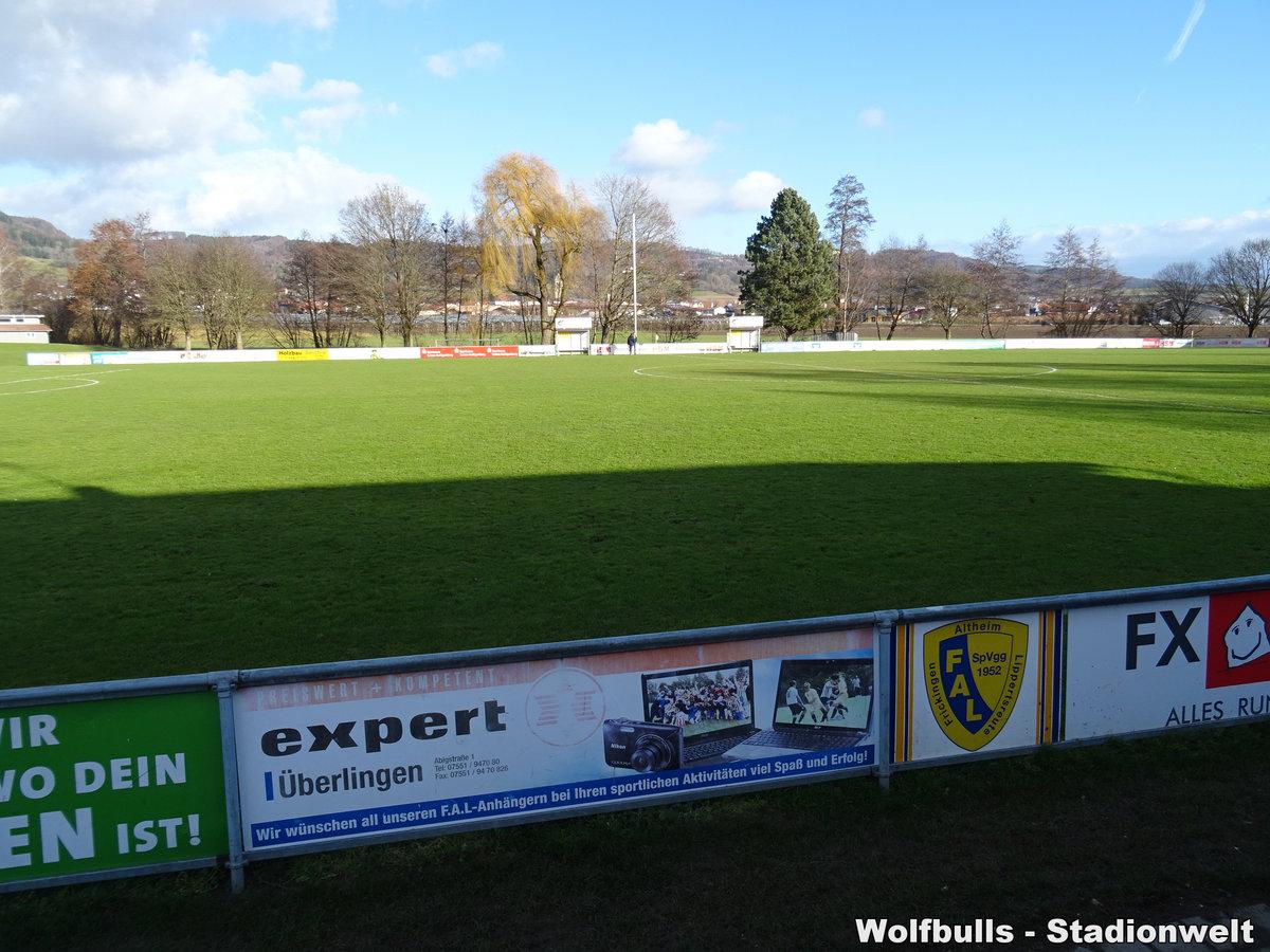 HSM-Sportzentrum am Aubach Frickingen aufgenommen am 14. Dezember 2019