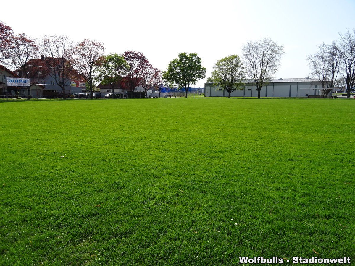 Lettenparkstadion Auggen aufgenommen am 22. April 2019