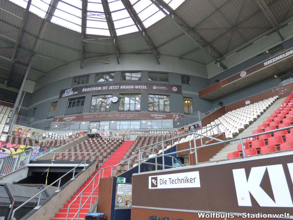 Millerntorstadion Hamburg aufgenommen am 28. September 2017