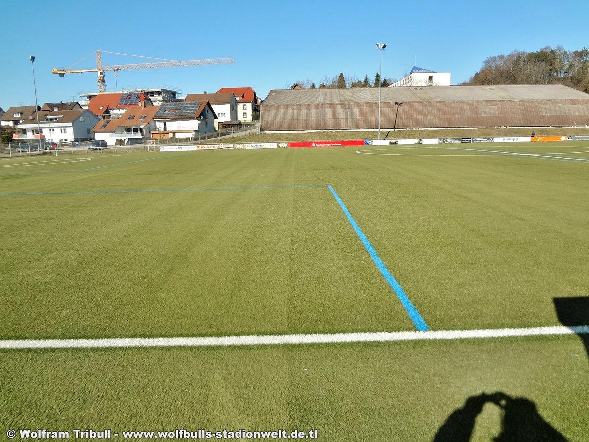 Nebenplatz Osterholzstadion Stockach aufgenommen am 25. Februar 2018