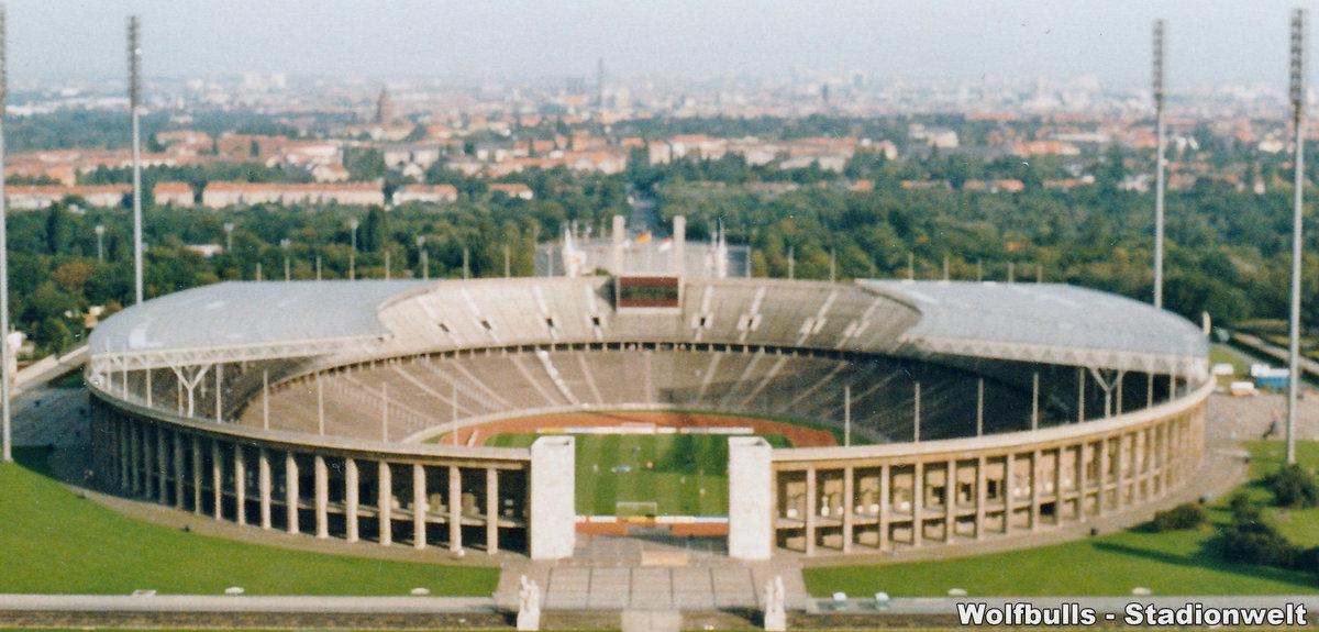 Olympiastadion Berlin aufgenommen am 05. Oktober 199