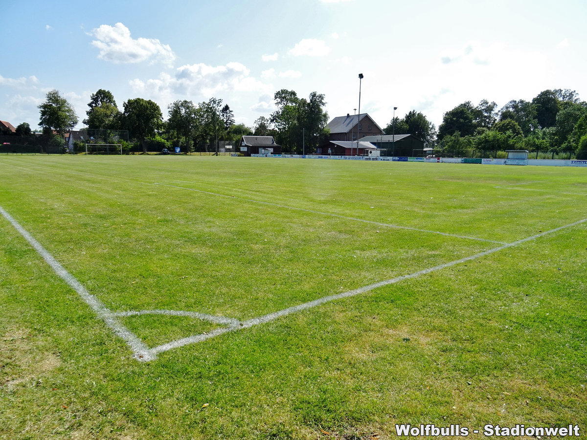 Ostestadion Geversdorf aufgenommen am 27. Juli 2019