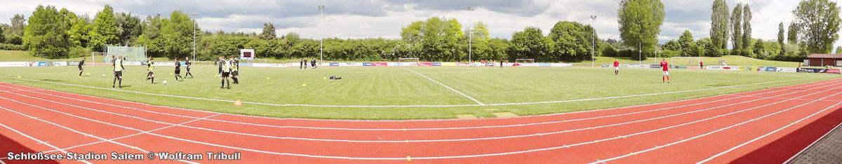 Schloßsee-Stadion Salem aufgenommen am 20. Mai 2017