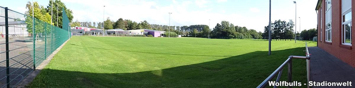 Sportplatz der Altenbrucher Schule aufgenommen am 28. Juli 2020