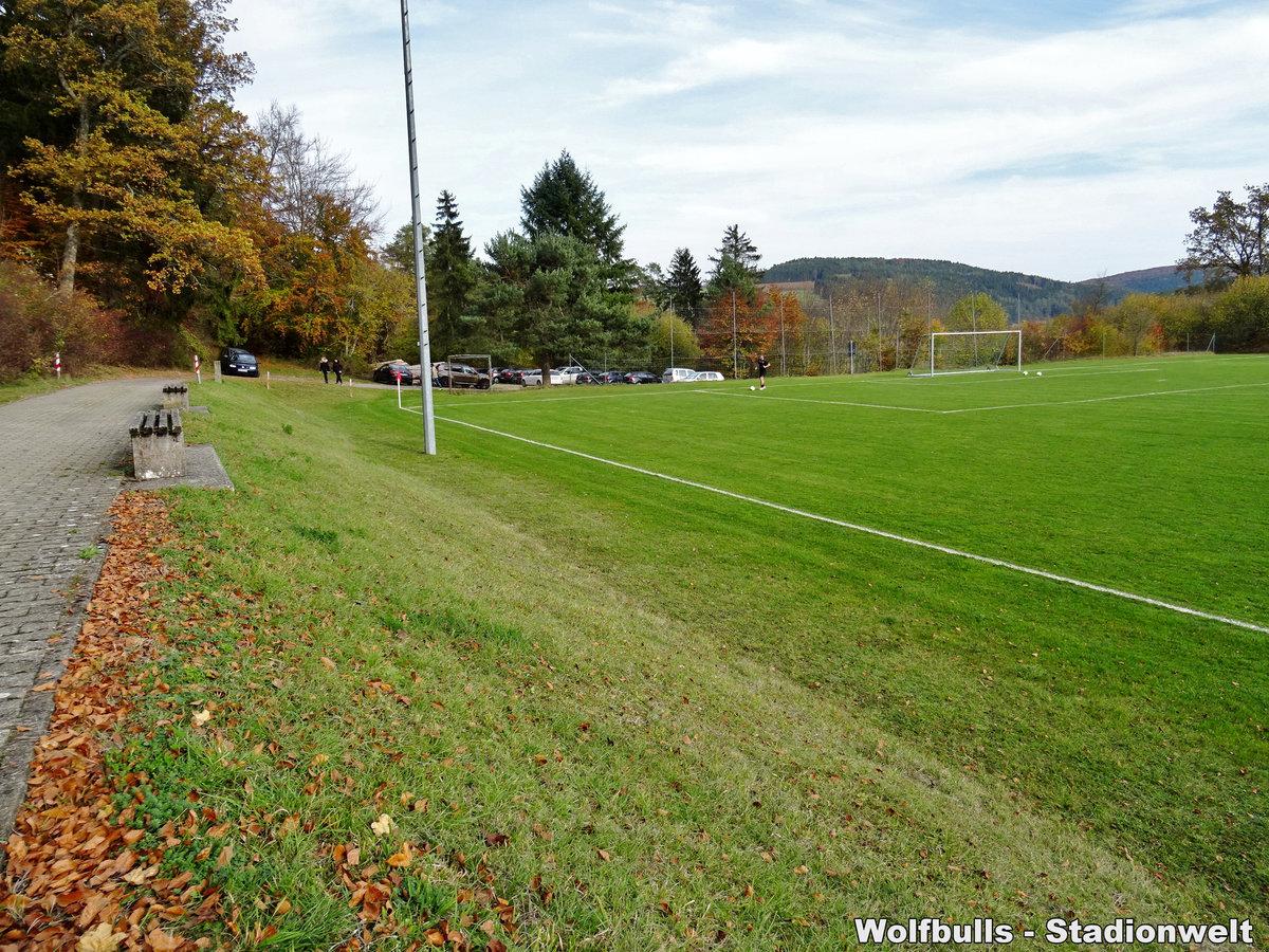 Sportplatz Aulfingen aufgenommen am 17. Oktober 2019