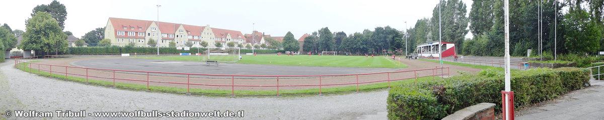 Sportplatz Kampfbahn Cuxhaven aufgenommen am 08. August 2017