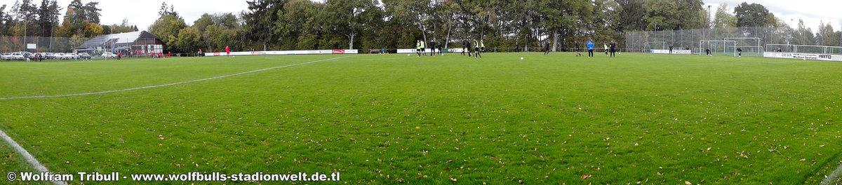 Sportplatz Pfaffenweiler aufgenommen am 08. Oktober 2017