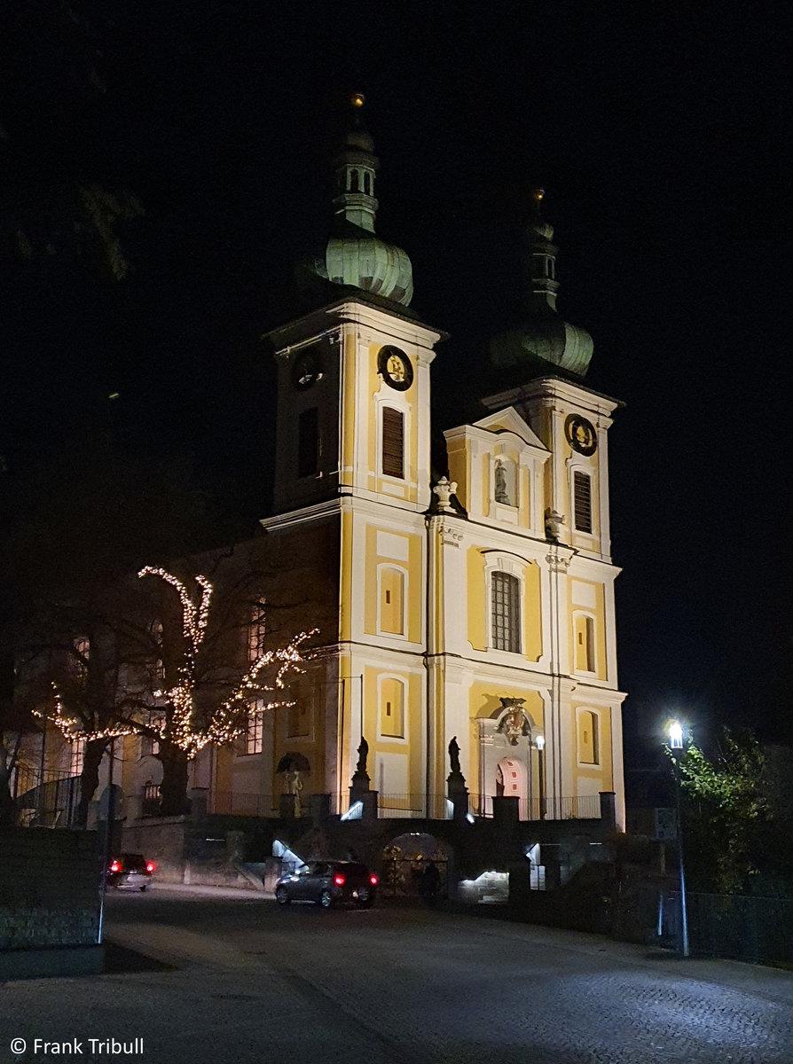 St. Johann-Kirche in Donaueschingen aufgenommen am 27.11.2020