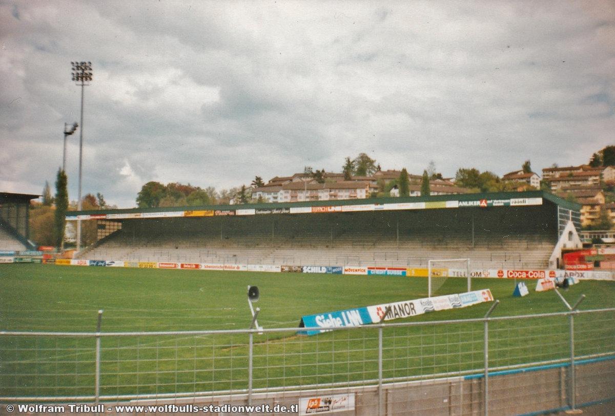 Stadion Almmend Luzern aufgenommen im Juni 1995