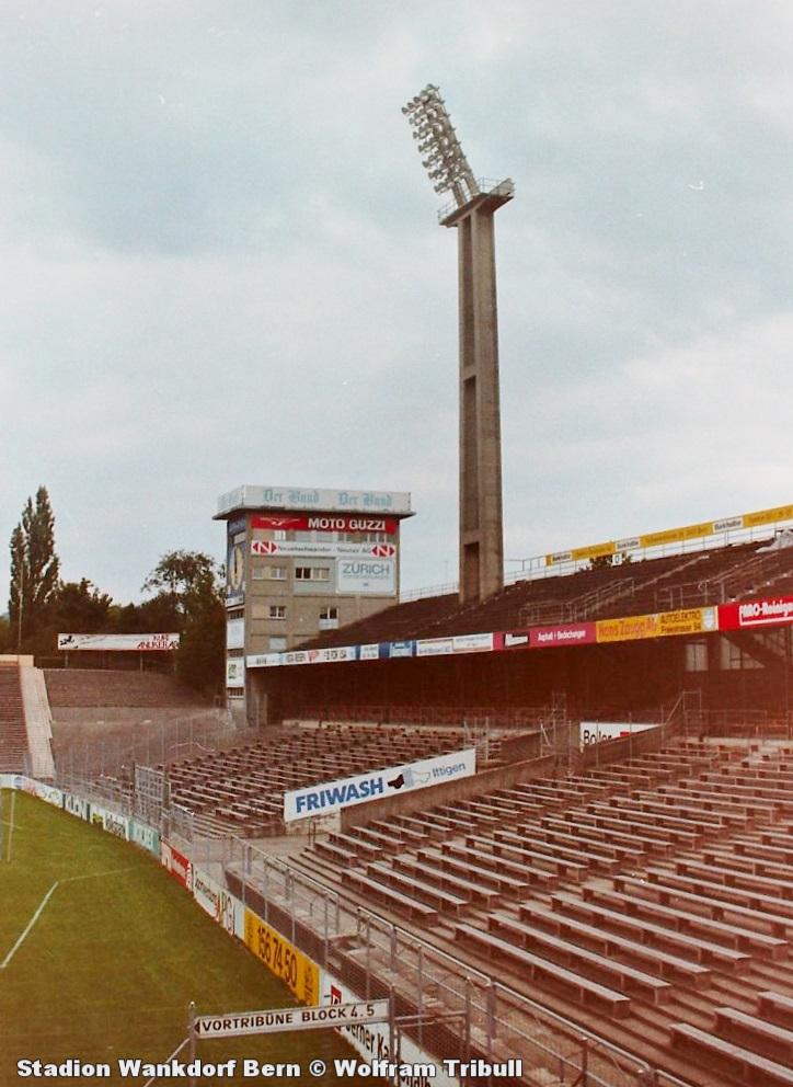 Stadion Wankdorf aufgenommen 1993