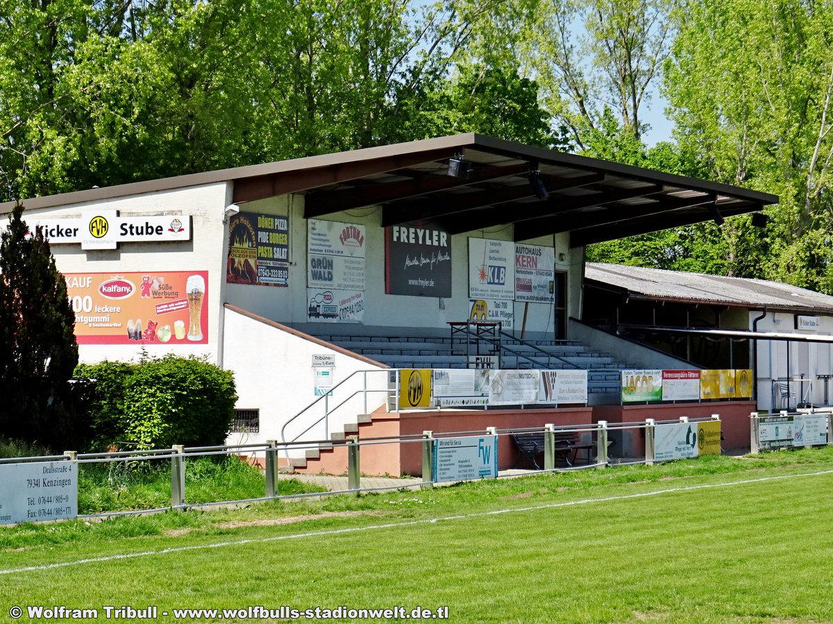 Stockfeldstadion Herbolzheim aufgenommen am 01. Mai 2019