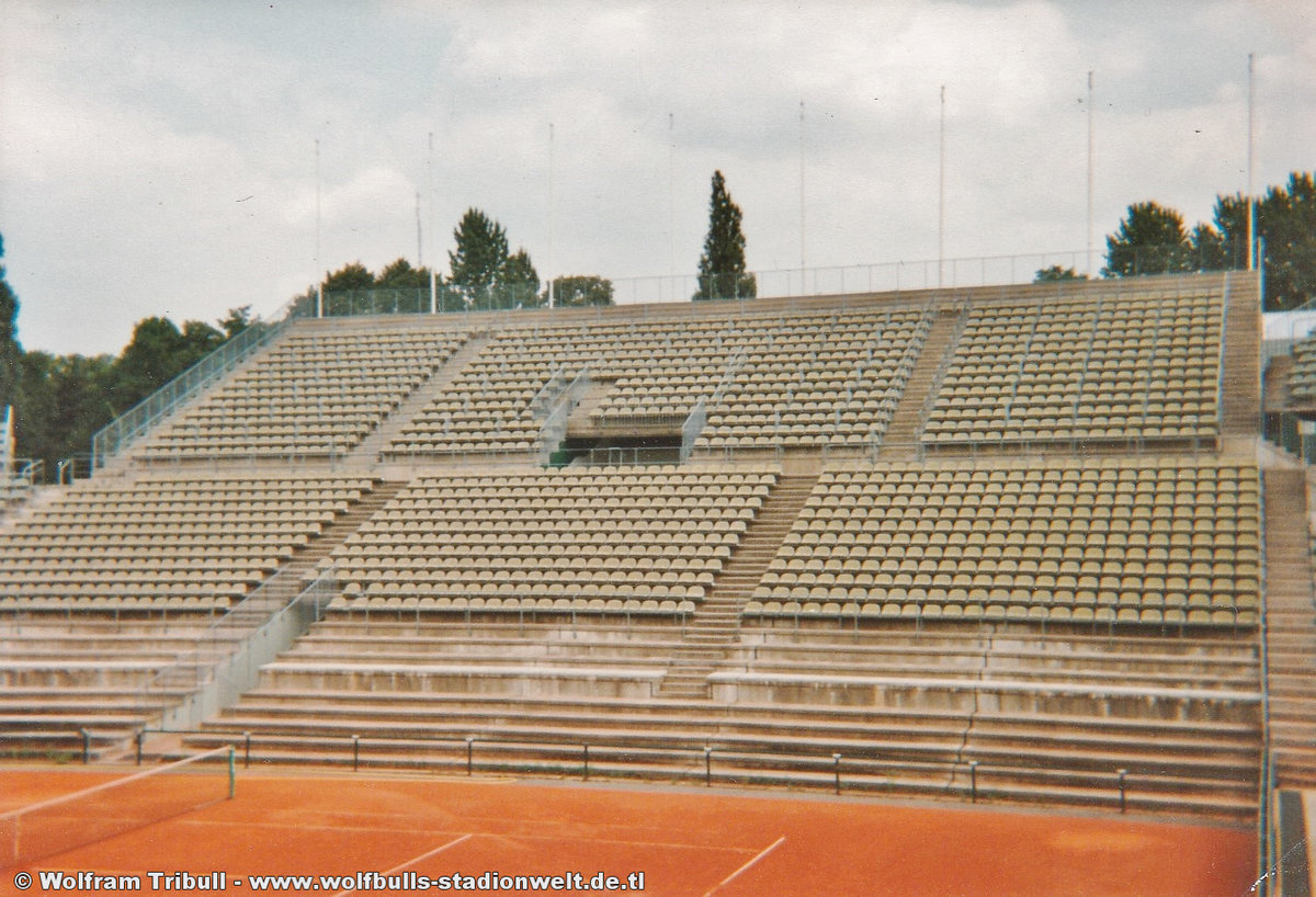 Tennisstadion Rohtenbaum Hamburg aufgenommen im August 1994