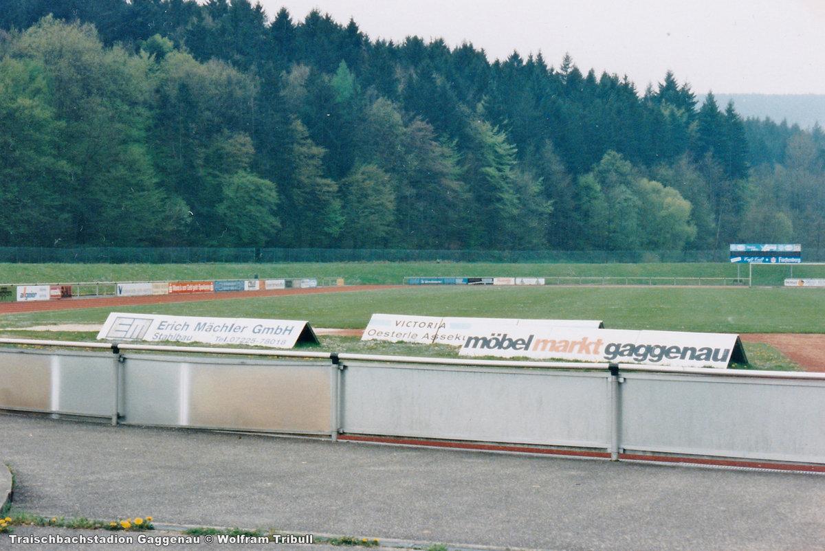 Traischbachstadion Gaggenau aufgenommen am 26. August 1995