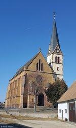 St. Konrad-Kirche in Gutmadingen aufgenommen am 19.02.2017