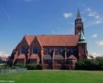 Die Pfarrkirche Hl. Herz Jesu aufgenommen 06.08.2016 in Bremerhaven-Lehe