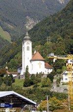 Die Herz-Jesu-Kirche in Flüelen (Schweiz) aufgenommen am 03.10.2014